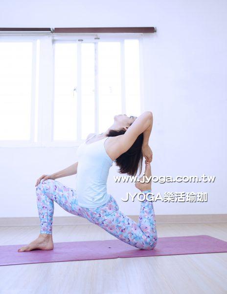 台南JYOGA樂活瑜珈-瑜珈教學-單腿鴿王第二式 Eka Pada Rajakapotasana II